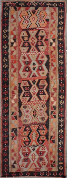 R6565 Antique Oriental Kilim Runner