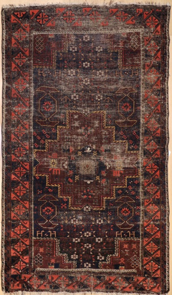 R7569 Antique Persian Belouch Rug