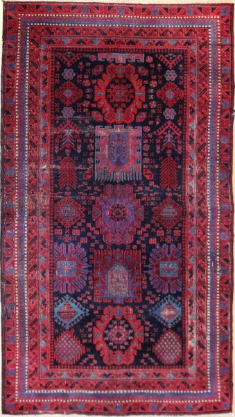 R8361 Antique Persian Belouch Rug