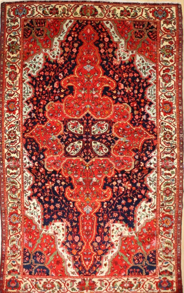 R8783 Antique Persian Bidjar Rug