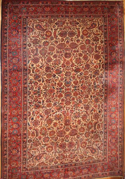 R6479 Antique Persian Kashan Carpet