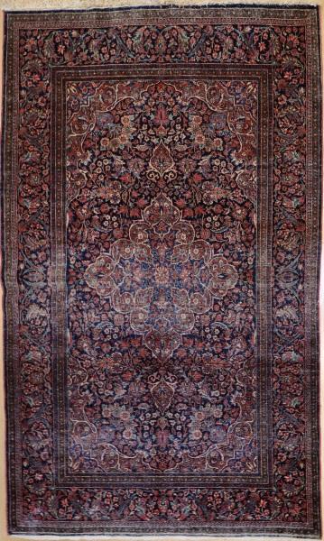R9317 Antique Persian Kashan Rug