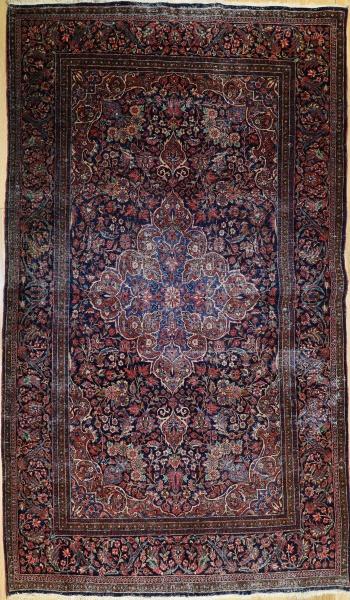 R9318 Antique Persian Kashan Rug