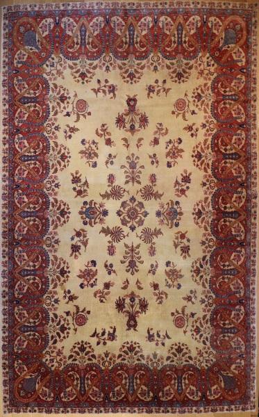 R6052 Antique Persian Kerman Carpets