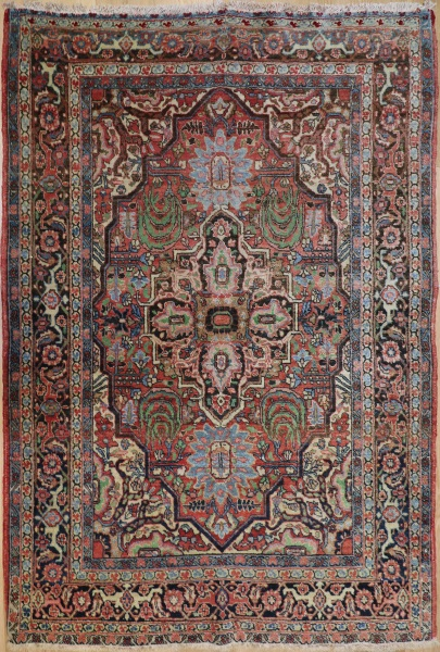 R8317 Antique Persian Kerman Rug