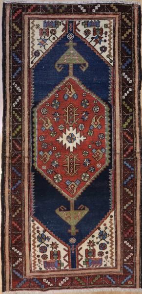 R1552 Antique Persian Kurdish Rug