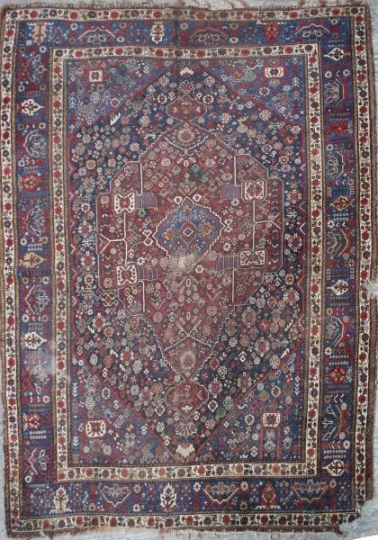 R5744 Antique Persian Qashqai Carpet