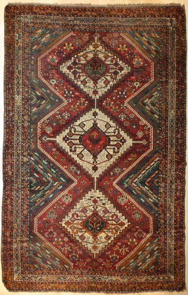 Antique Persian Qasqai Carpet R8083