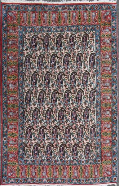 R7392 Antique Persian Qum Carpet