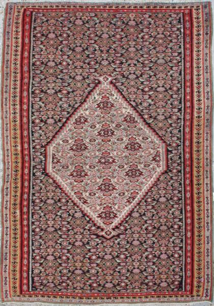 Persian Senneh Kilim Antique Persian Kilim Antique