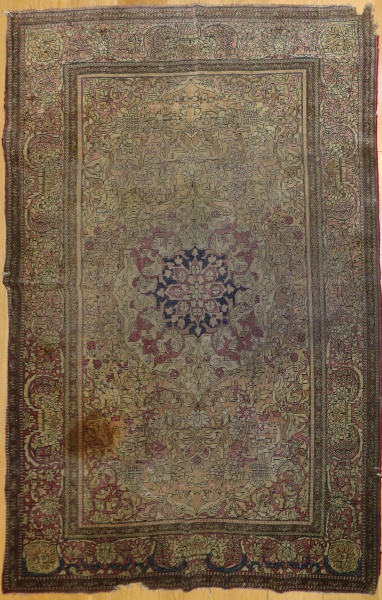 R5152 Antique Persian Silk Esfahan Rug