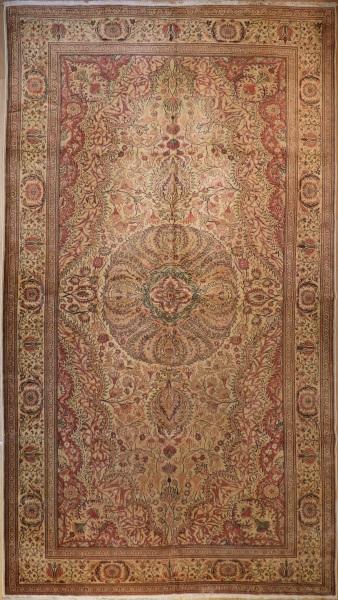 R3911 Antique Persian Tabriz Carpet