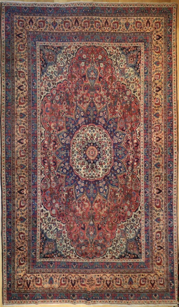 R1124 Antique Persian Tabriz Carpet
