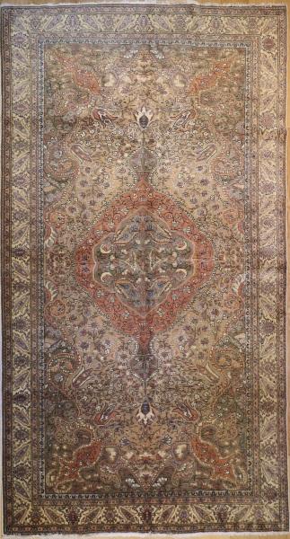 R3699 Antique Persian Tabriz Carpet