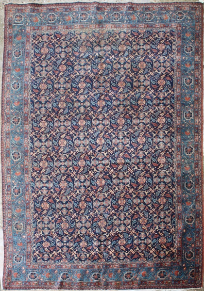 R4705 Antique Persian Tabriz Carpet
