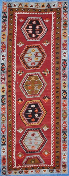 R7140 Antique Sarkisla Kilim Runner