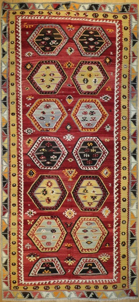 R7660 Antique Sarkisla Turkish Kilim Rug