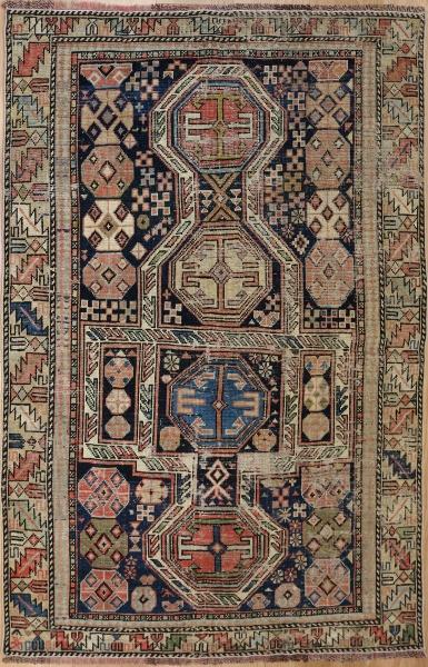 R1935 Antique Shirvan Caucasian Rug