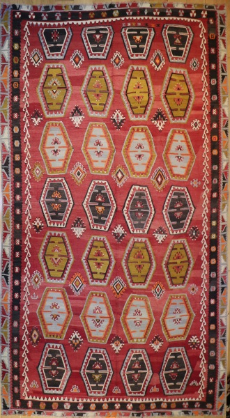 R6387 Antique Sivas Sarkisla Turkish Kilim Rug