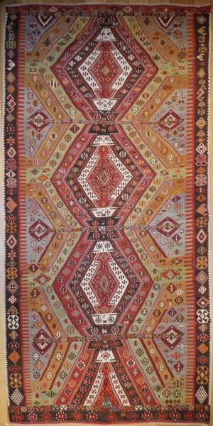 R5552 Antique Sivas Turkish Kilim Rug