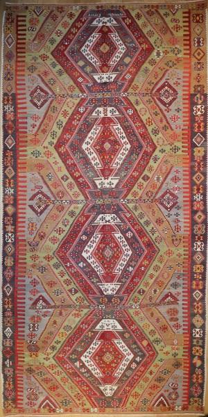 R5553 Antique Sivas Turkish Kilim Rug