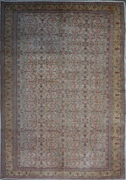 R1401 Antique Tabriz Carpet