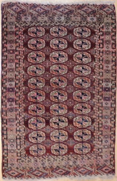 R3862 Antique Tekke Turkmenistan Rug