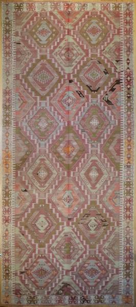R6824 Antique Turkish Adana Kilim