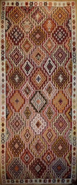 R7637 Antique Turkish Adana Kilim Rug