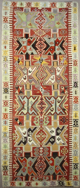 R7606 Antique Turkish Adana Kilim Runner