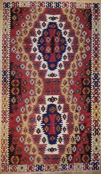 R3974 Antique Turkish Aksaray Kilim Rug