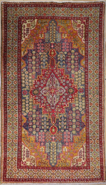 R6430 Antique Turkish Burunduz Carpet