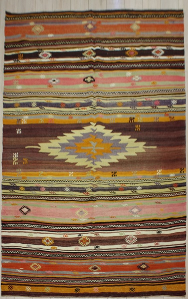 R7494 Antique Turkish Cal Kilim Rug