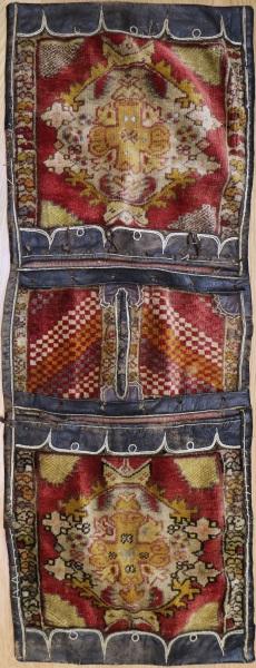 R7954 Antique Turkish Carpet Saddle Bags