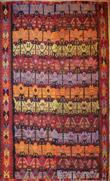R7815 Antique Turkish Emirdag Kilim Rug