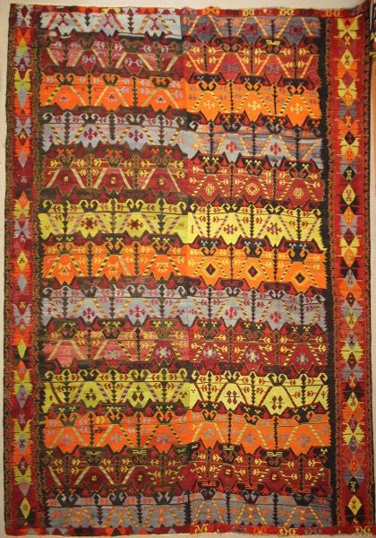 Antique Turkish Emirdag Kilim Rug R7815