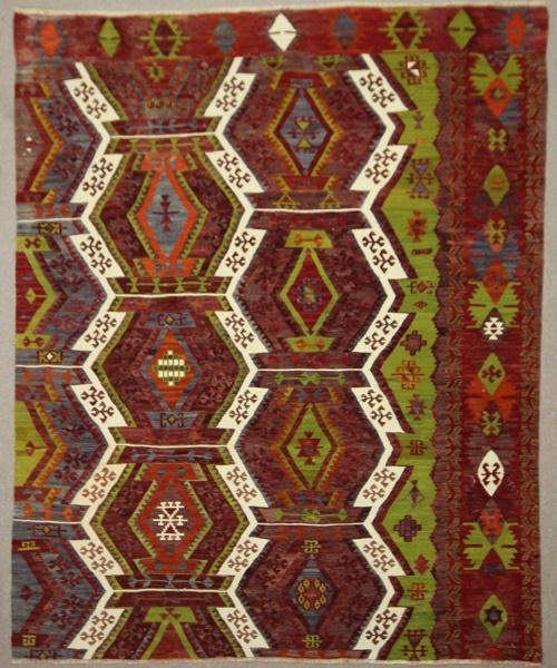 Antique Turkish Emirdag Kilim Rug R7833