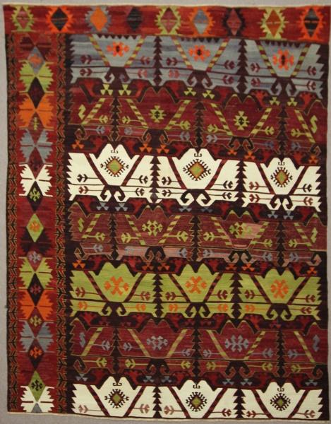 Antique Turkish Emirdag Kilim Rug R7848