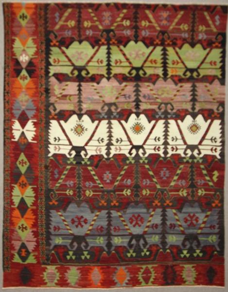 Antique Turkish Emirdag Kilim Rug R7849