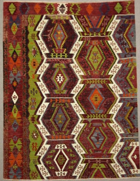 Antique Turkish Emirdag Kilim Rug R7879