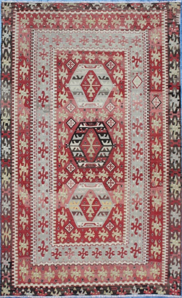 R7110 Antique Turkish Esme Kilim