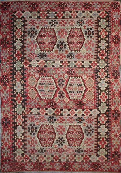 R4167 Antique Turkish Esme Kilim Rug
