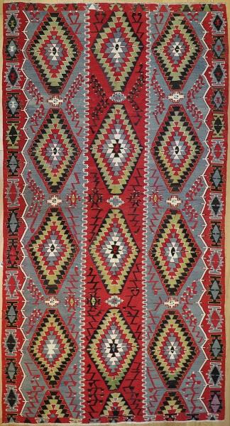 R7646 Antique Turkish Esme Kilim Rugs in London