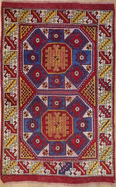 R1215 Antique Turkish Ezine Rug