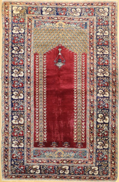 R9378 Antique Turkish Ghiordes Rug