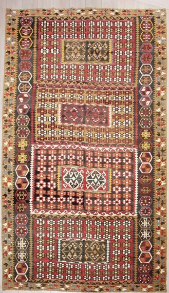 R7505 Antique Turkish Gomurgen Kilim Rug