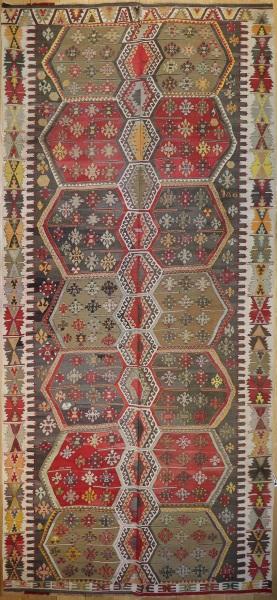 R6367 Antique Turkish Gurun Kilim Rug