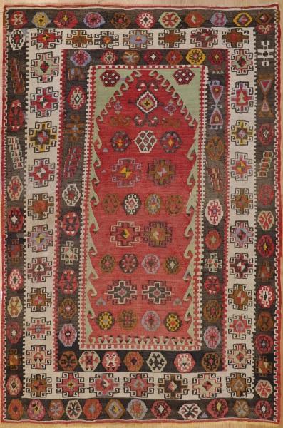 R7503 Antique Turkish Kayseri Kilim Rug