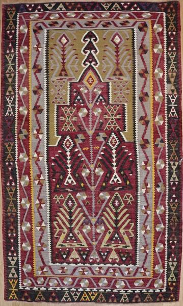 R7623 Antique Turkish Kayseri Kilim Rug