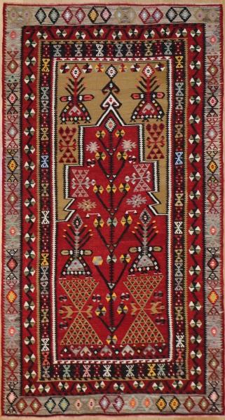 R7644 Antique Turkish Kayseri Kilim Rug